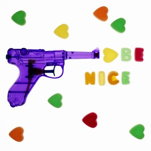 A watergun with a peacemessage.