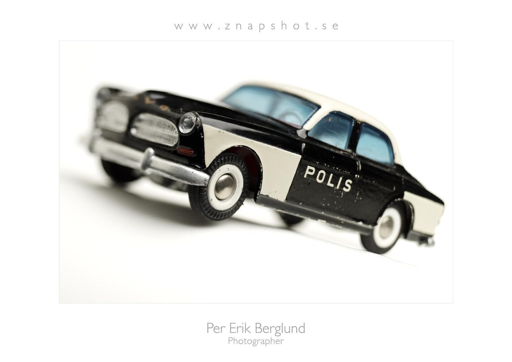Pelles Poster liggande Polisbil